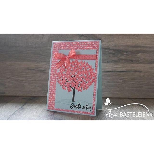 """""""Baum der Freundschaft"""" meets """"Wald der Worte"""" in Himmelblau und Flamingorot.  #StampinUp #papercraft #waldderworte…"""