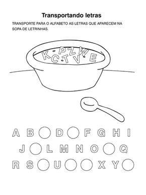 alfabetização atividades com o alfabeto atividades escolares
