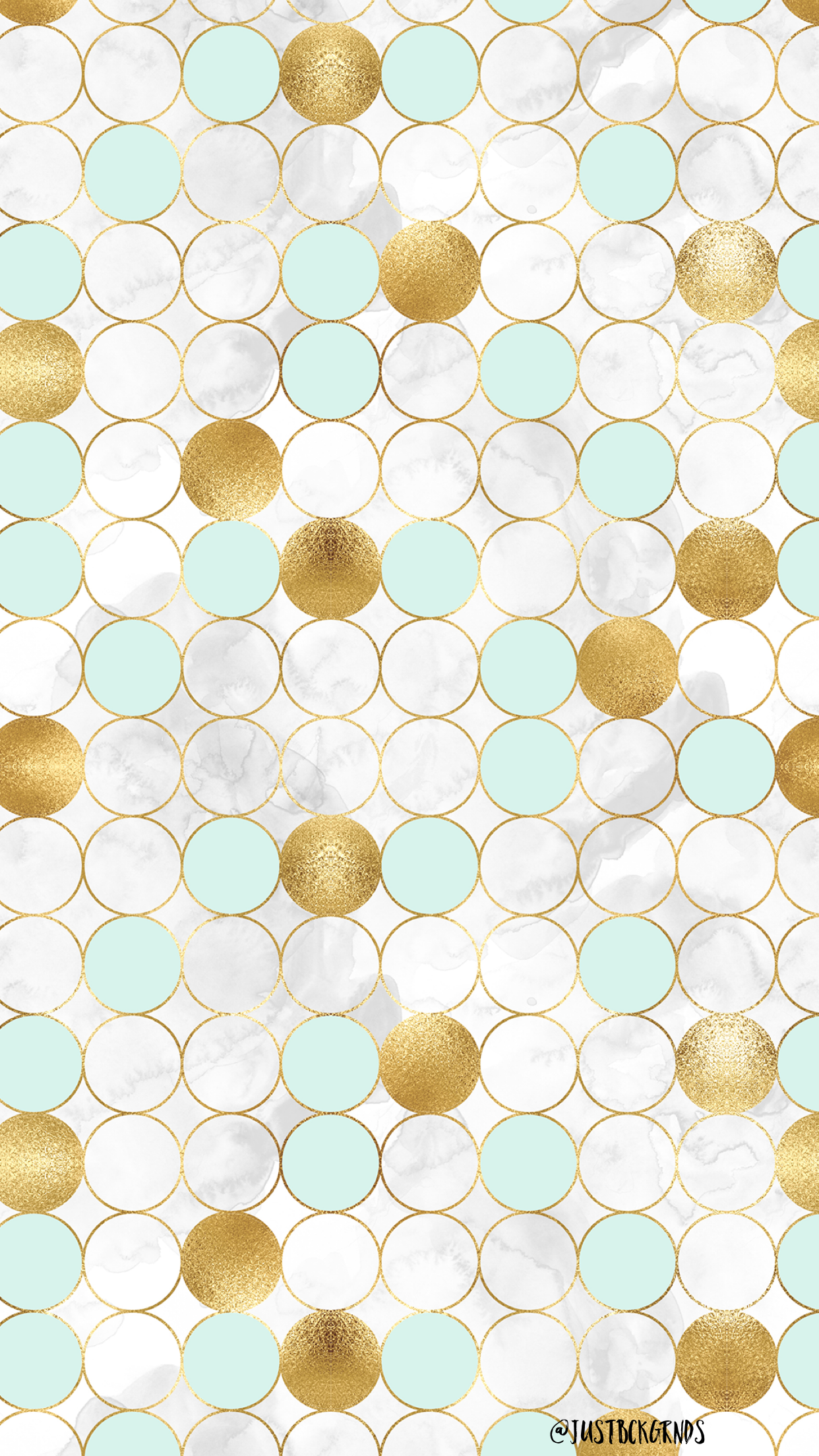 Marble Gold And Mint Green Circle Wallpaper Mint Wallpaper Mint