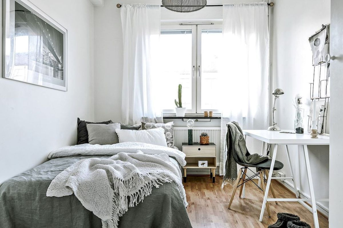 40 Beautiful Minimalist Dorm Room Decor Ideas On A Budget 11