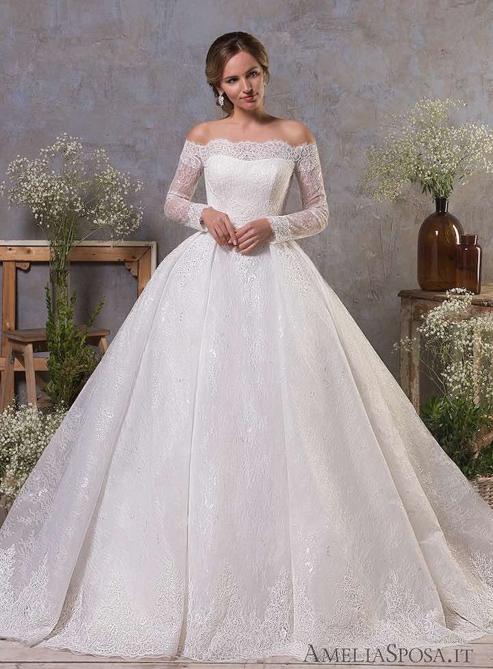 Classic Feminine Beauty In These Amelia Sposa Wedding Dresses Modwedding Ball Gown Wedding Dress Winter Wedding Dress Amelia Sposa Wedding Dress