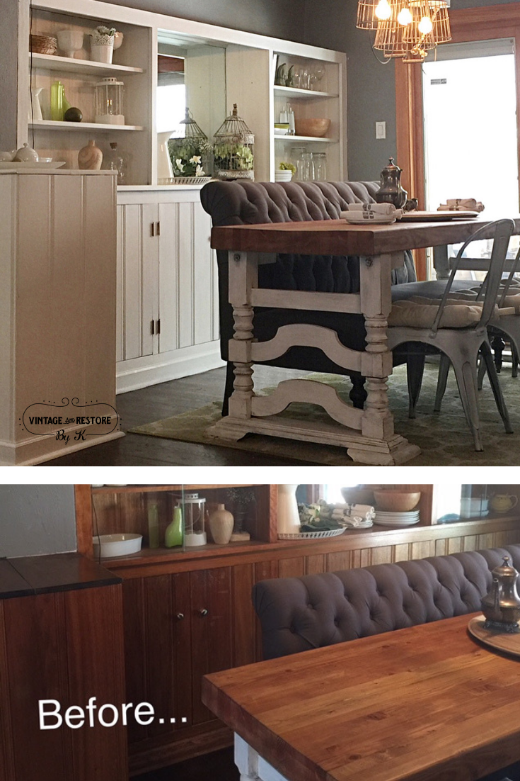 Experience The Vintage And Re By K Difference These Dining Room Built Ins Were Transformed
