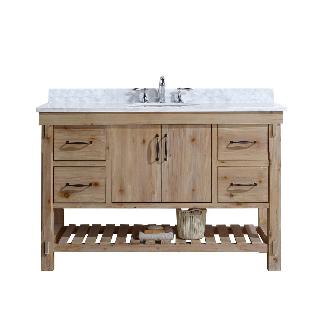 Ari Kitchen And Bath Marina 48 In Single Bath Vanity In Driftwood