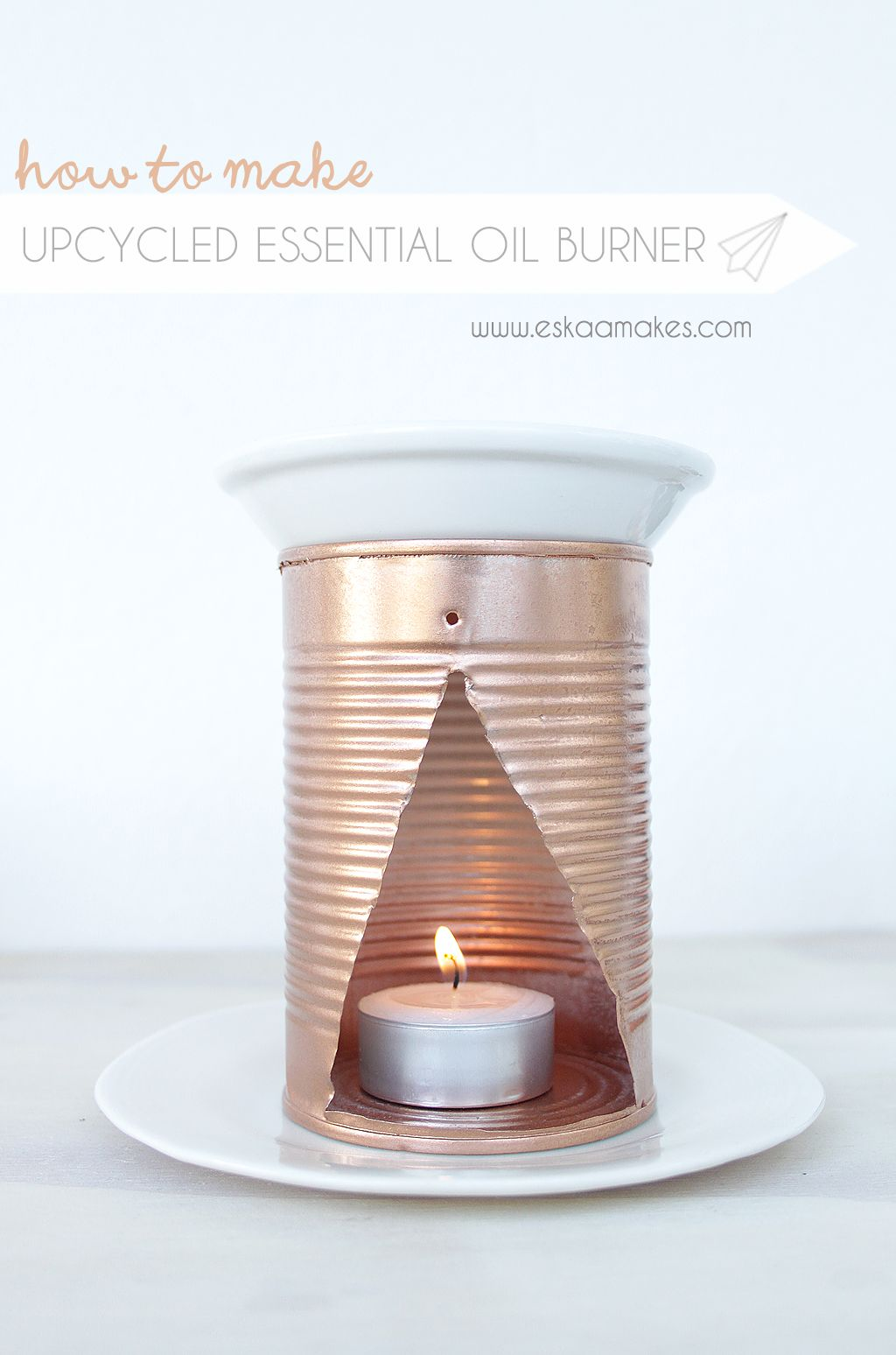 How To Make Upcycled Essential Oil Burner Es Kaa Makes Essential Oil Burner Essential Oil Candles Diy Diy Candles Scented