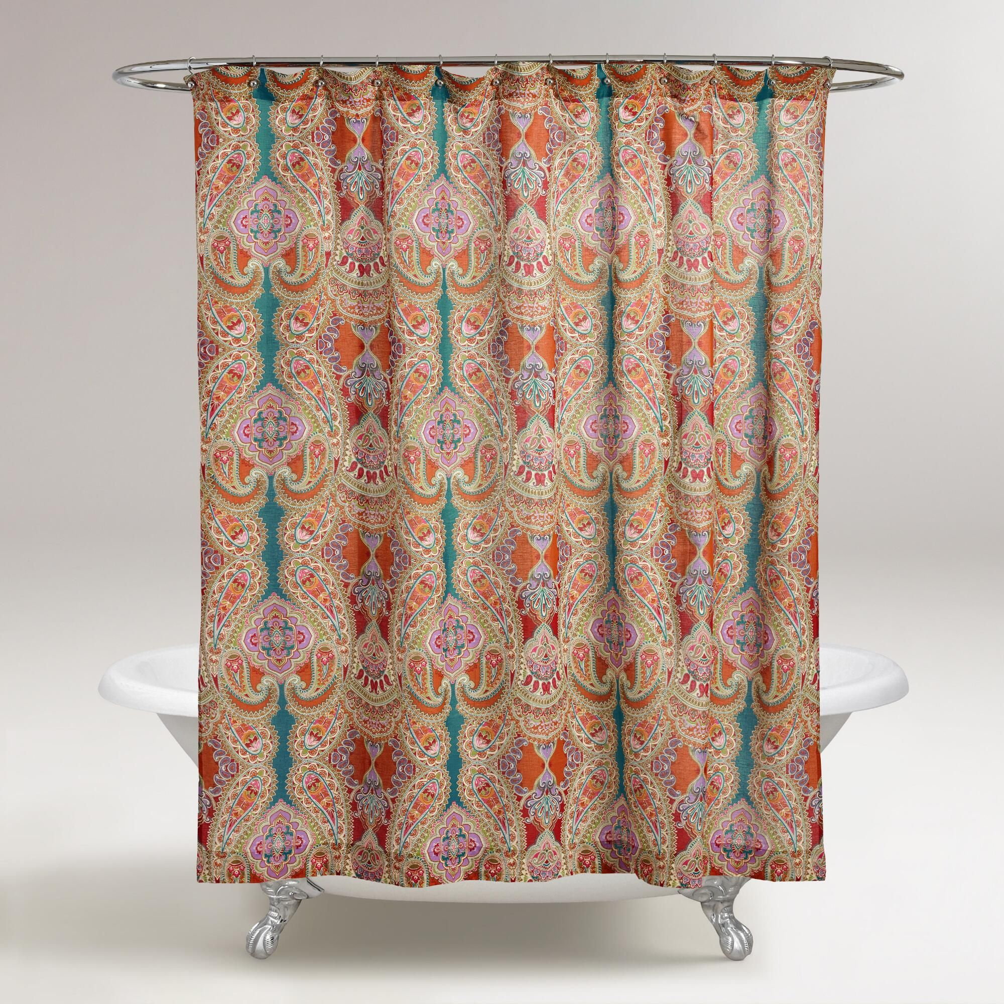 Our Venice Paisley Shower Curtain Adds A Whimsical Air With Its