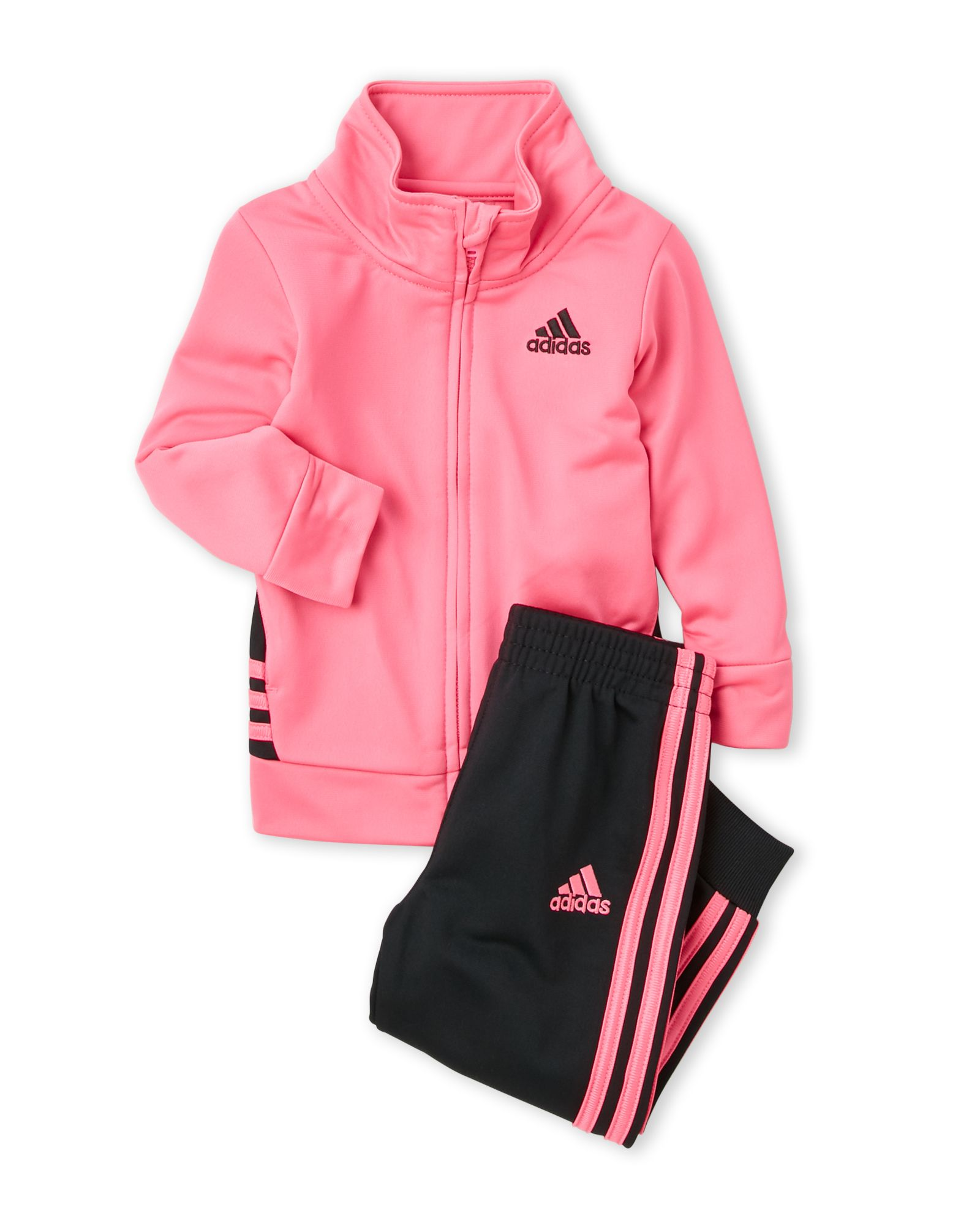 fd9a6de2f29 Adidas (Toddler Girls) Two-Piece On The Move Jogging Suit