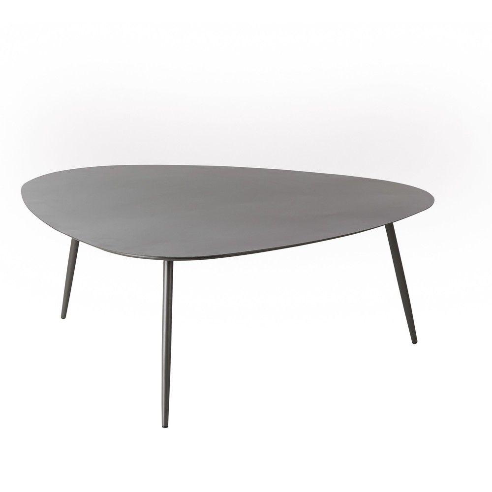 Table basse de jardin vintage en métal gris anthracite ...