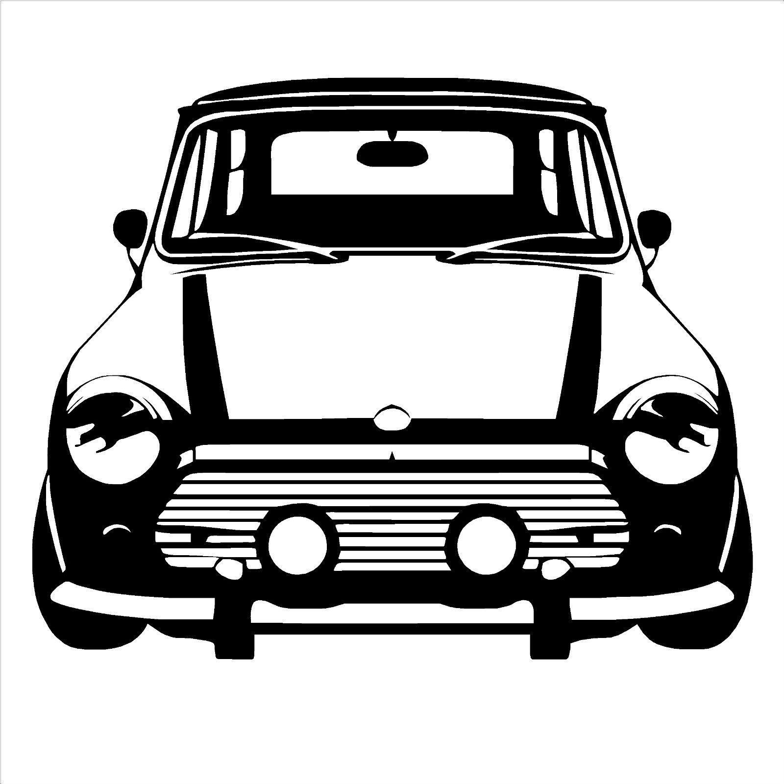 classic mini cooper vinyl wall art car sticker room decal