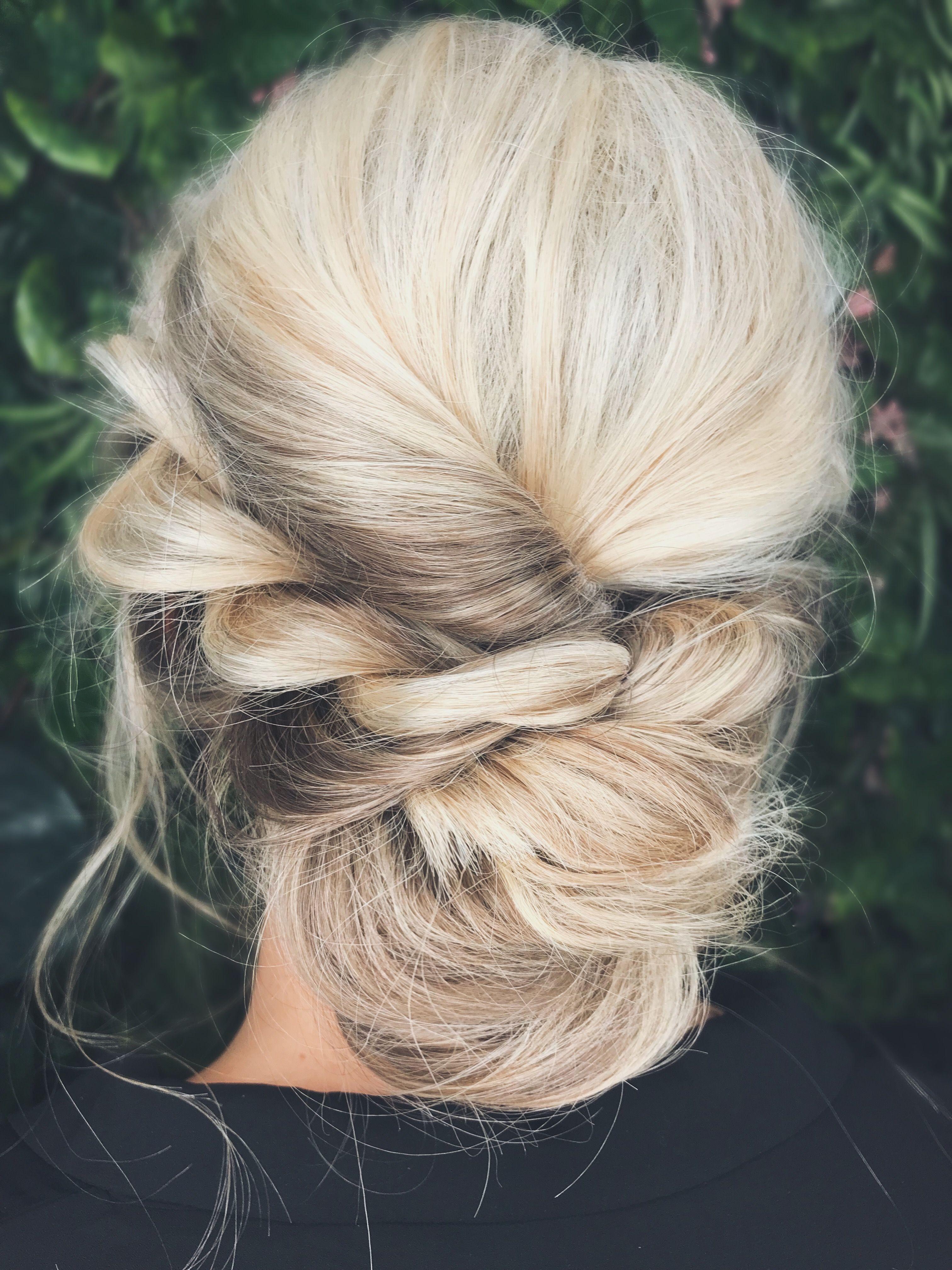wedding hair prom hair blonde hair updo messy hair up