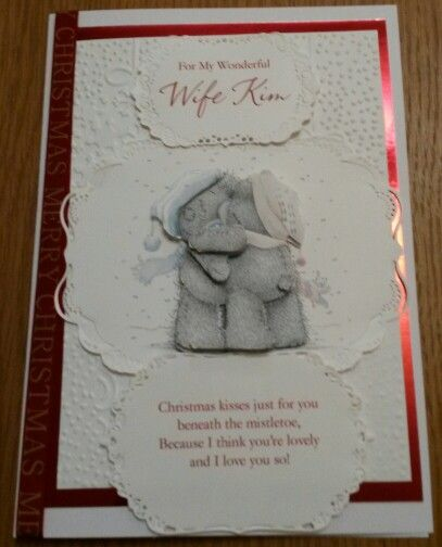 Personalised wife Christmas card