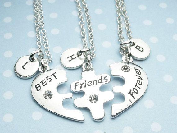 4ed0bbbe641c 3 BFF Necklace best friend necklace set three 3 necklace | KPOP ...