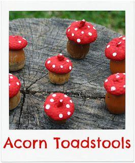 Acorn Toadstools #autumncrafts