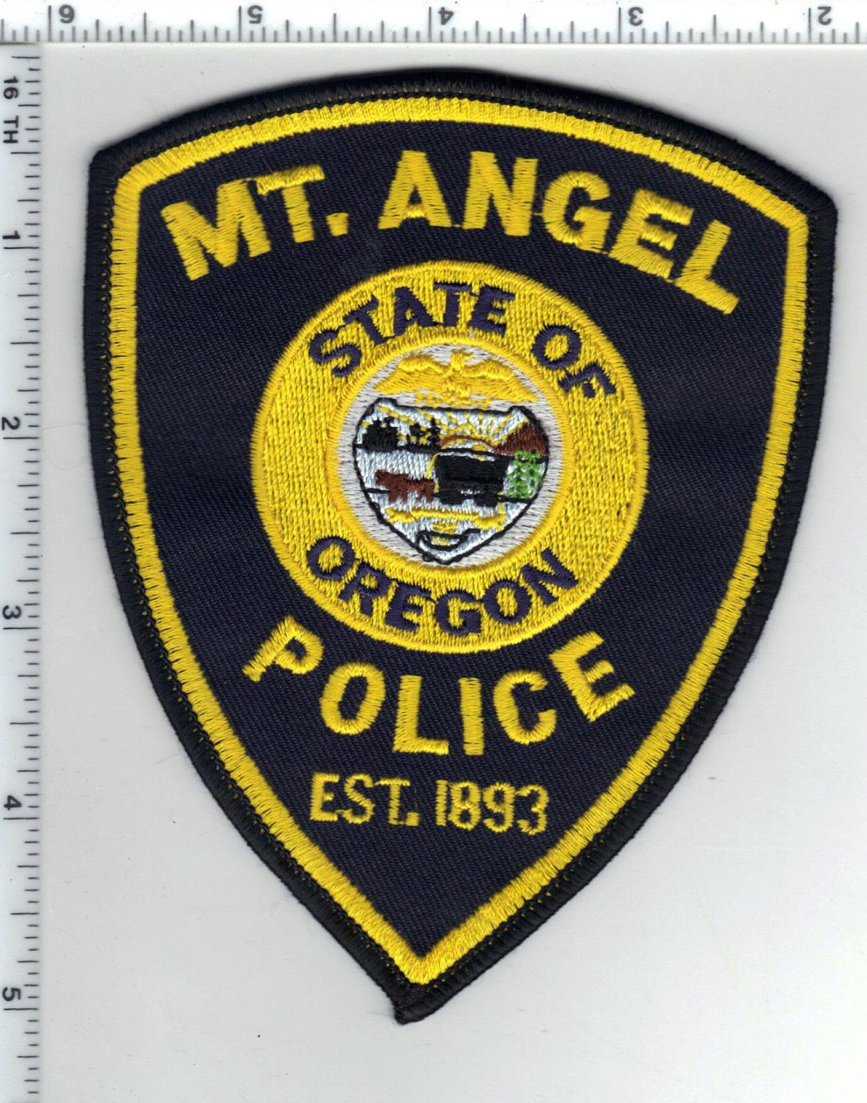 Mt. Angel Police (Oregon) Shoulder Patch - new from the 1980's • $24.95 - PicClick
