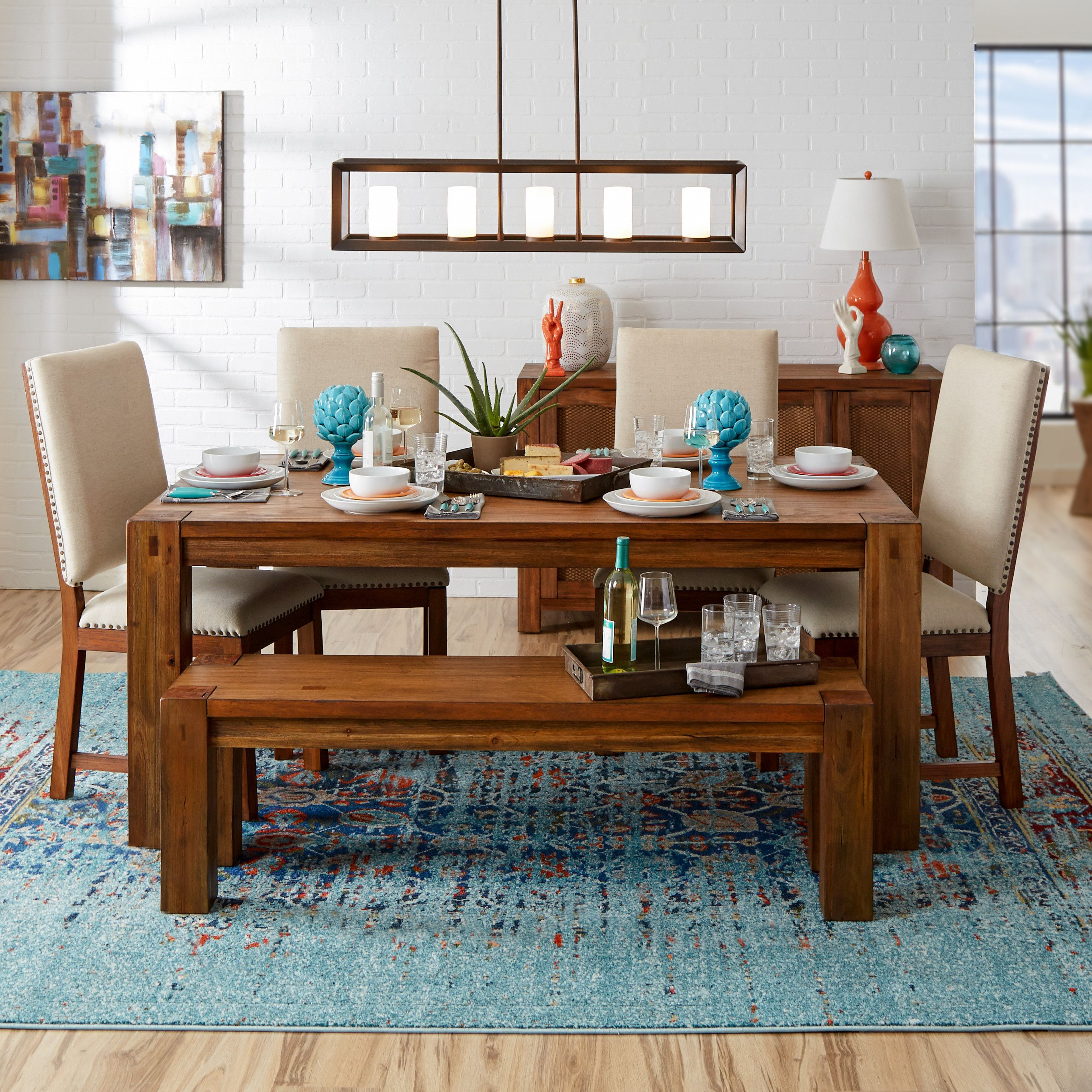 Mercury Row Artemis Blue Area Rug