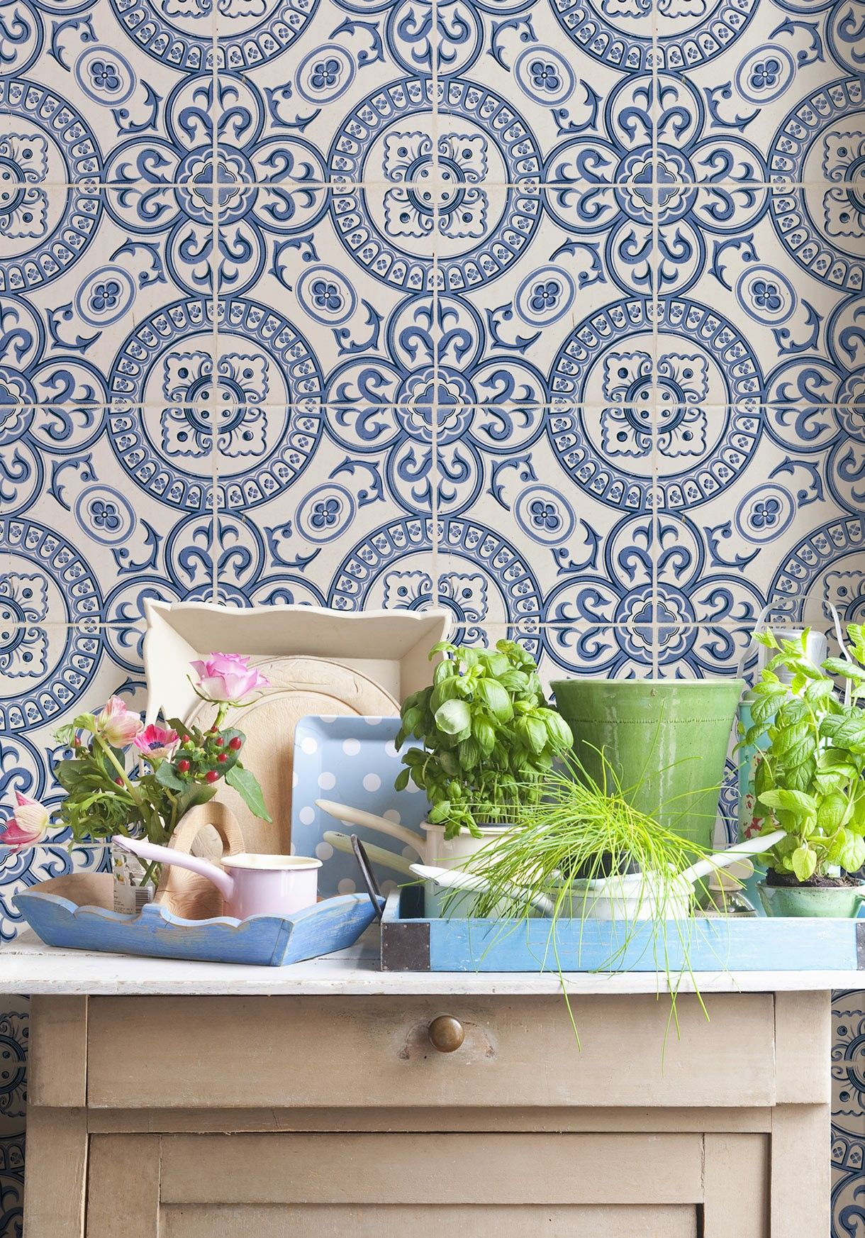 Pin By Hildie Westie On Wallpaper Ideas In 2021 Tile Wallpaper French Style Decor Faux Tiles