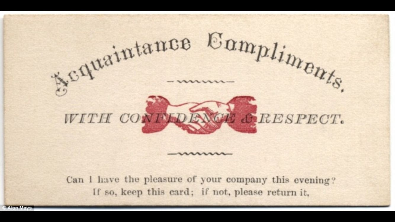 victorian dating cards