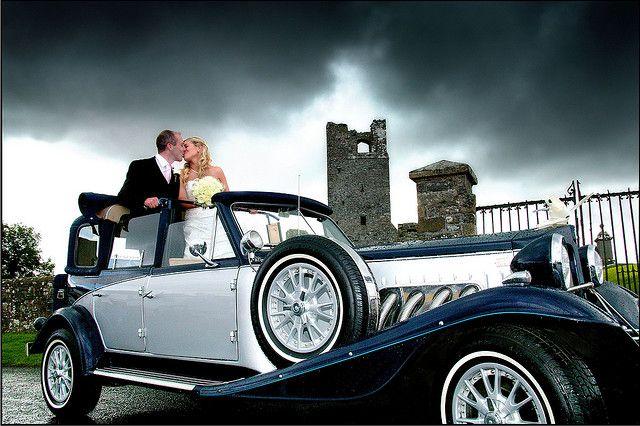 Navy Silver Beauford Wedding Car Dublin Meath Louth Kildare Kpcd Wedding Car Hire Wedding Car Vintage Car Wedding