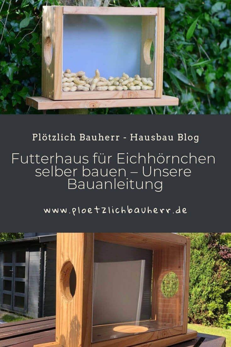 Eichhörnchen Futterhaus - Bauanleitung Eichhörnchenhaus selber bauen #vogelhausbauen