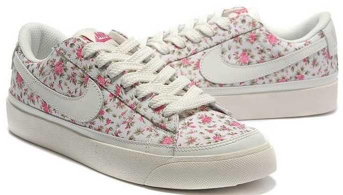 Nike Blazer Low 3s Casual Womens White Red Azaleas Shoes
