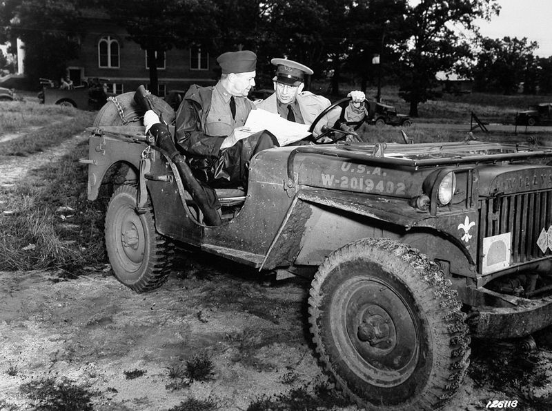 Brigadier General Dwight D Eisenhower And Lieutenant General Lesley J Mcnair In A Jeep Willys Ma General Mcnair Died From Military Jeep Willys Jeep Willys