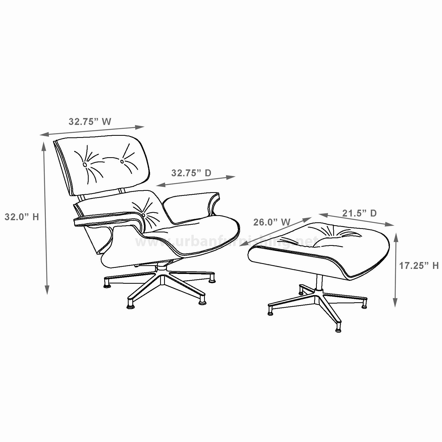 Eames Chair Dimensions Eames Style Lounge Chair And Ottoman 100 Aniline Chair And Ottoman Lounge Chair Eames Lounge