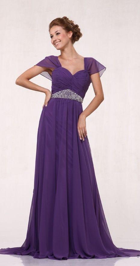Purple Wedding Dress Wedding Dress Chiffon Bridesmaid Dresses