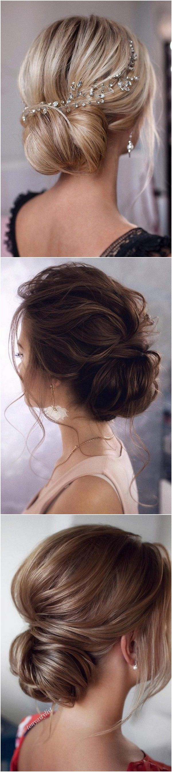 stunning low bun updo wedding hairstyles from tonyastylist page