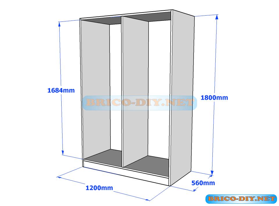 plano guardarropa ropero melamina proyectos que debo On planos closet melamina pdf