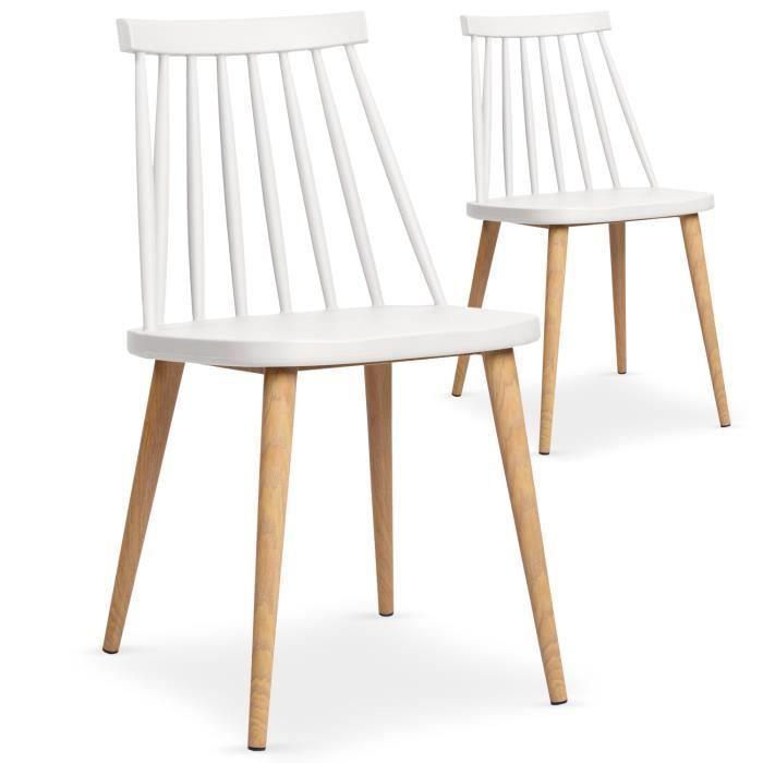 Chaises Design Pieds Metal Effet Bois Br Coloris Blanc Br La Chaise Trouville Est Une Chaise Tendance Avec Structure En Dinner Chair Scandinavian Chairs Chair