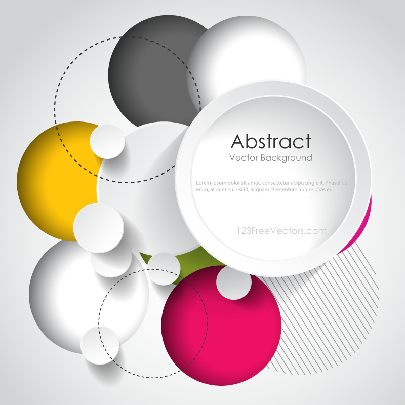 Modern Abstract Circle Background Design Template  3ff485ef5f
