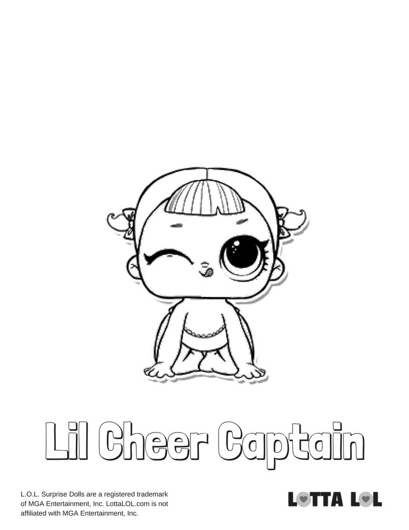Lil Cheer Captain Coloring Page Lotta Lol Lol Surprise Dolls