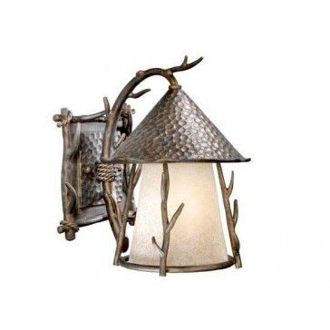 Woodland 9 Outdoor Wall Light Autumn Patina Hunting Decor