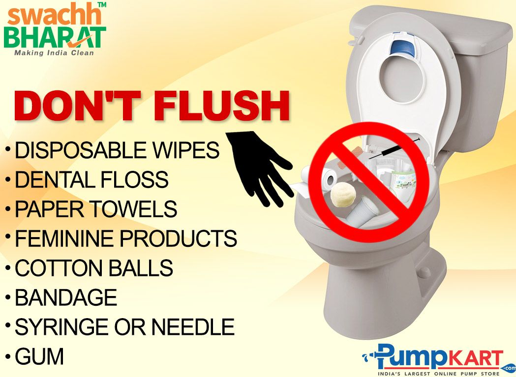 Please don't flush any item rather than human_waste. Don