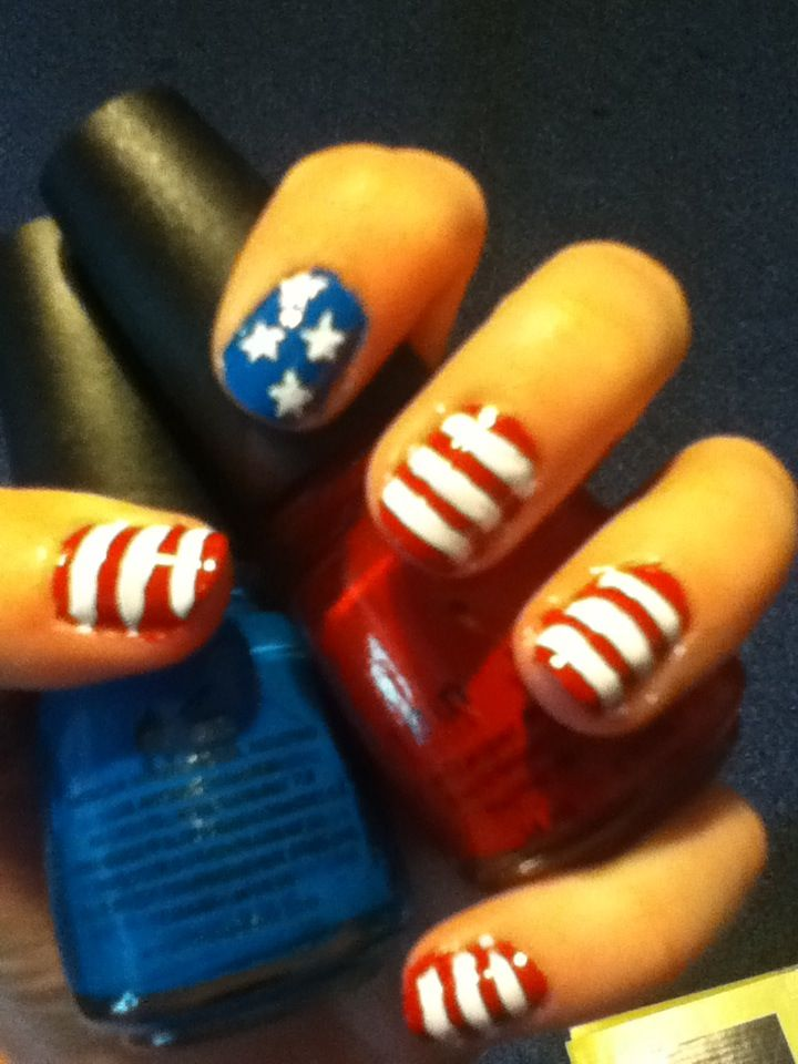 How to Create 4th of July Nails