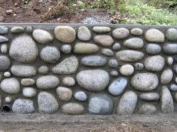 Resultado De Imagen Para Trabajos Con Piedras De Rio Rock Wall Gardens Retaining Wall Stone Wall Cladding