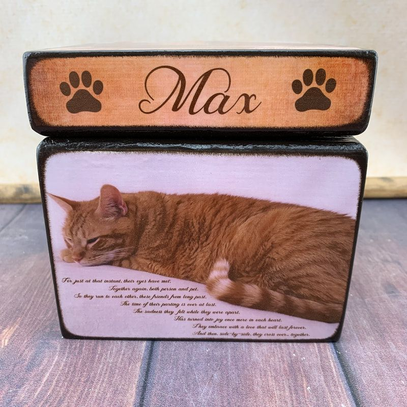 Personalised Handmade Photoblock Dog Cat Pet Memorial Unique Keepsake Gift