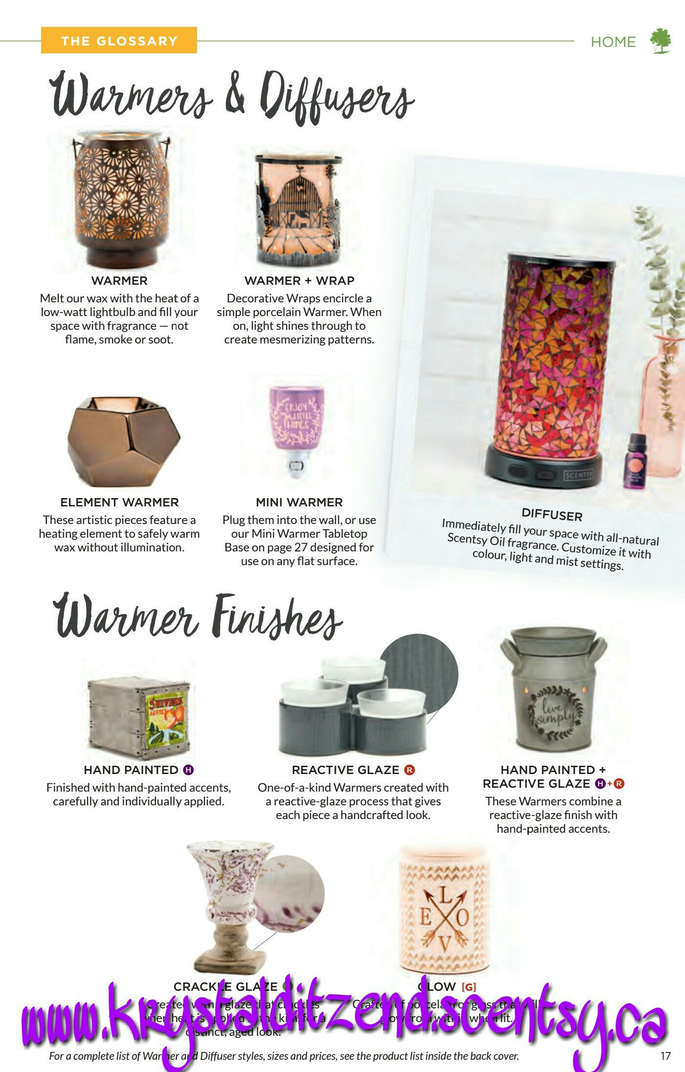 New warmers and diffusers from the spring/Summer collection