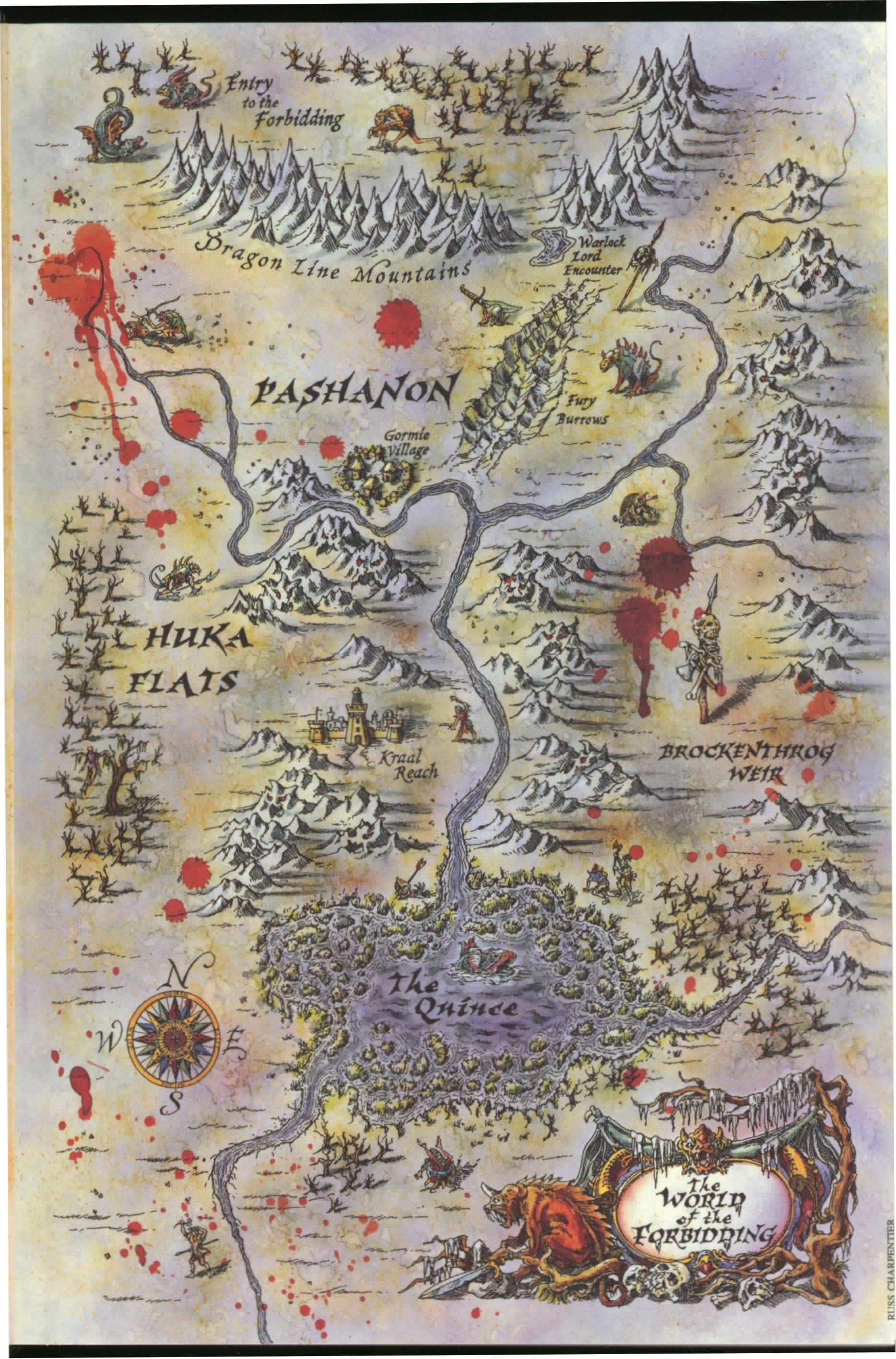 Terry Brooks Tanequil The World Of The Forbidding Map Fantasy