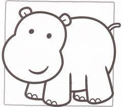 Hipopotamo Padroes De Animais Modelos De Aplique Paginas Para