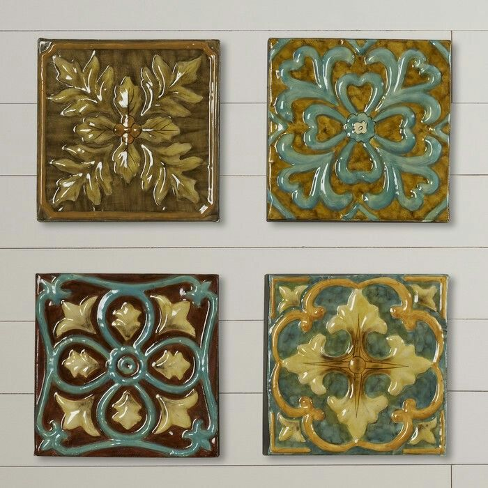 Tiles For Wall Decor Best Melina Medallion Tile Wall Décoraugust Grove $9899 $10230 3 2018