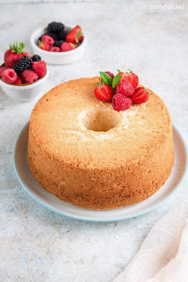homemade classic angel food cake recipe is easy to make