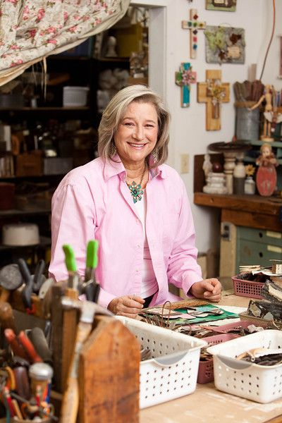 Kathleen Wedemeyer and her studio are featured in the May