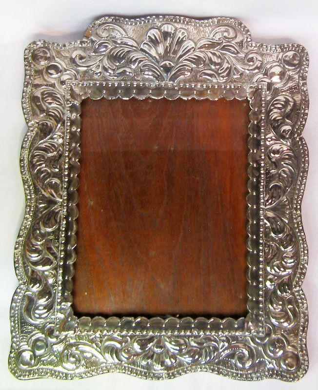 Colonial Sterling Silver Frame Peru Peruvian 11x13.75 | Silver ...