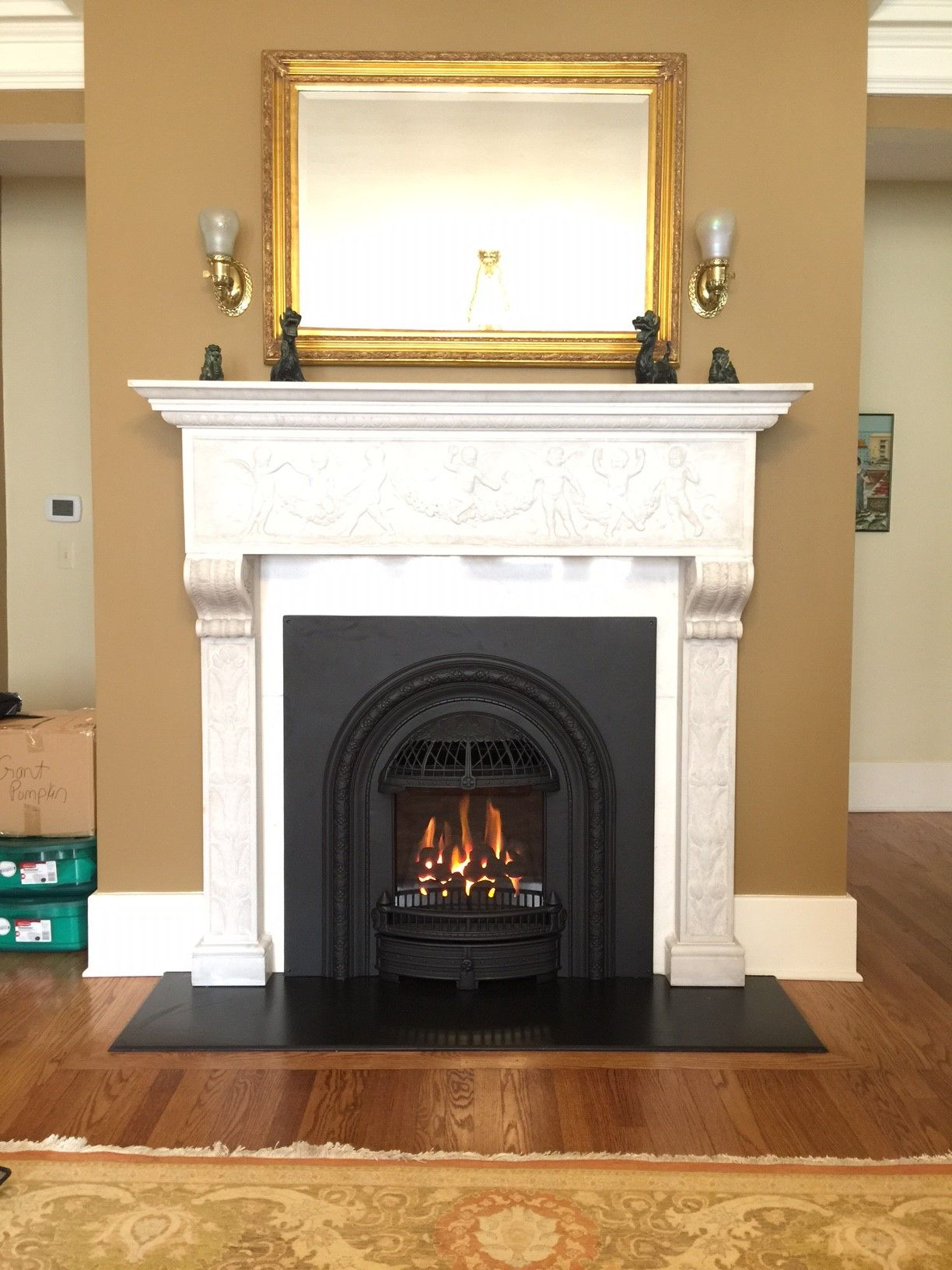 valor l1 1500 direct vent gas linear fireplace installed as a room