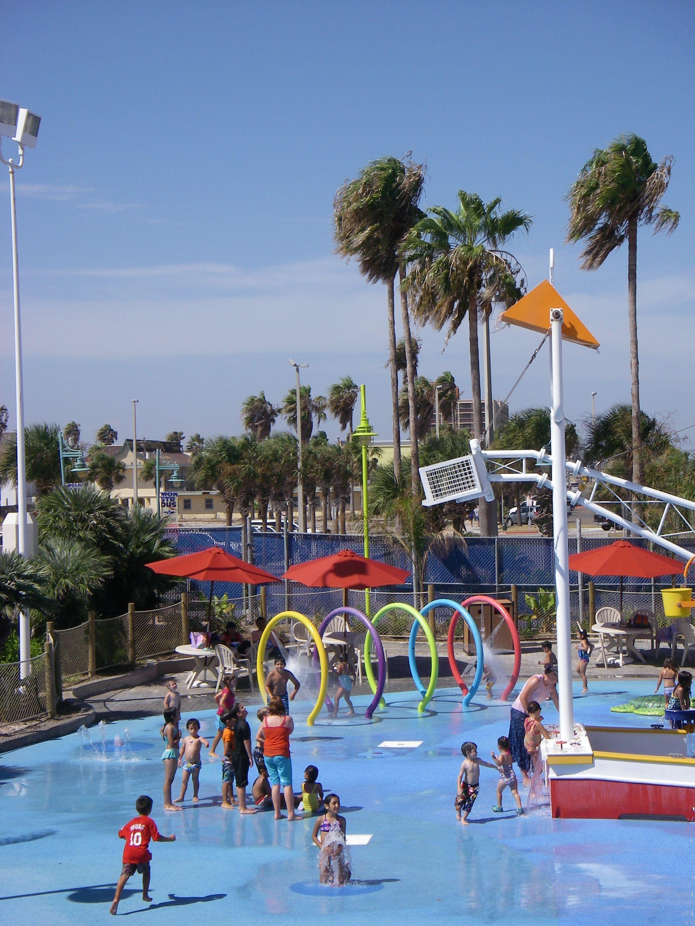 Splash Park At Texas State Aquarium In Corpus Christi