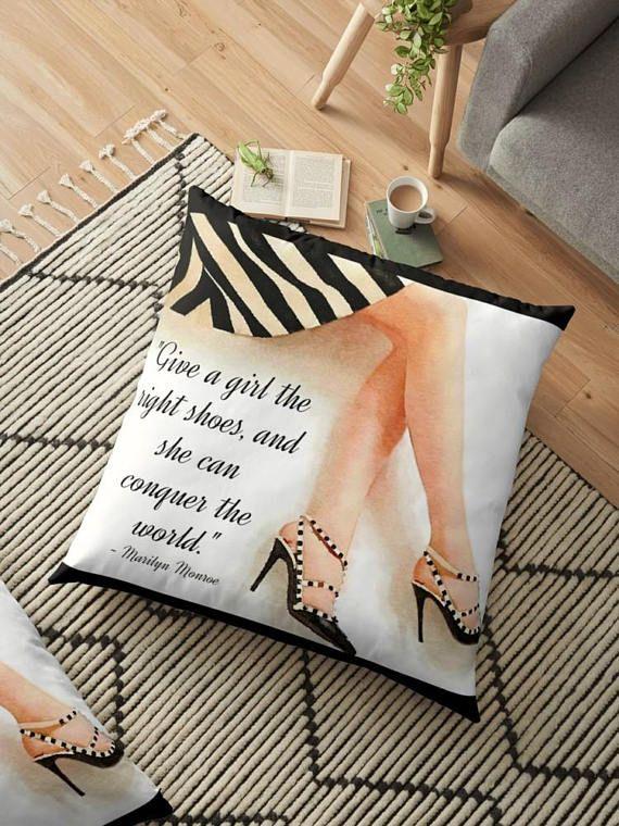 #ShoeLove #MarilyMonroe #ValentinoShoes Marilyn Monroe Quote Fashion Pillow Posh Pillow Cover