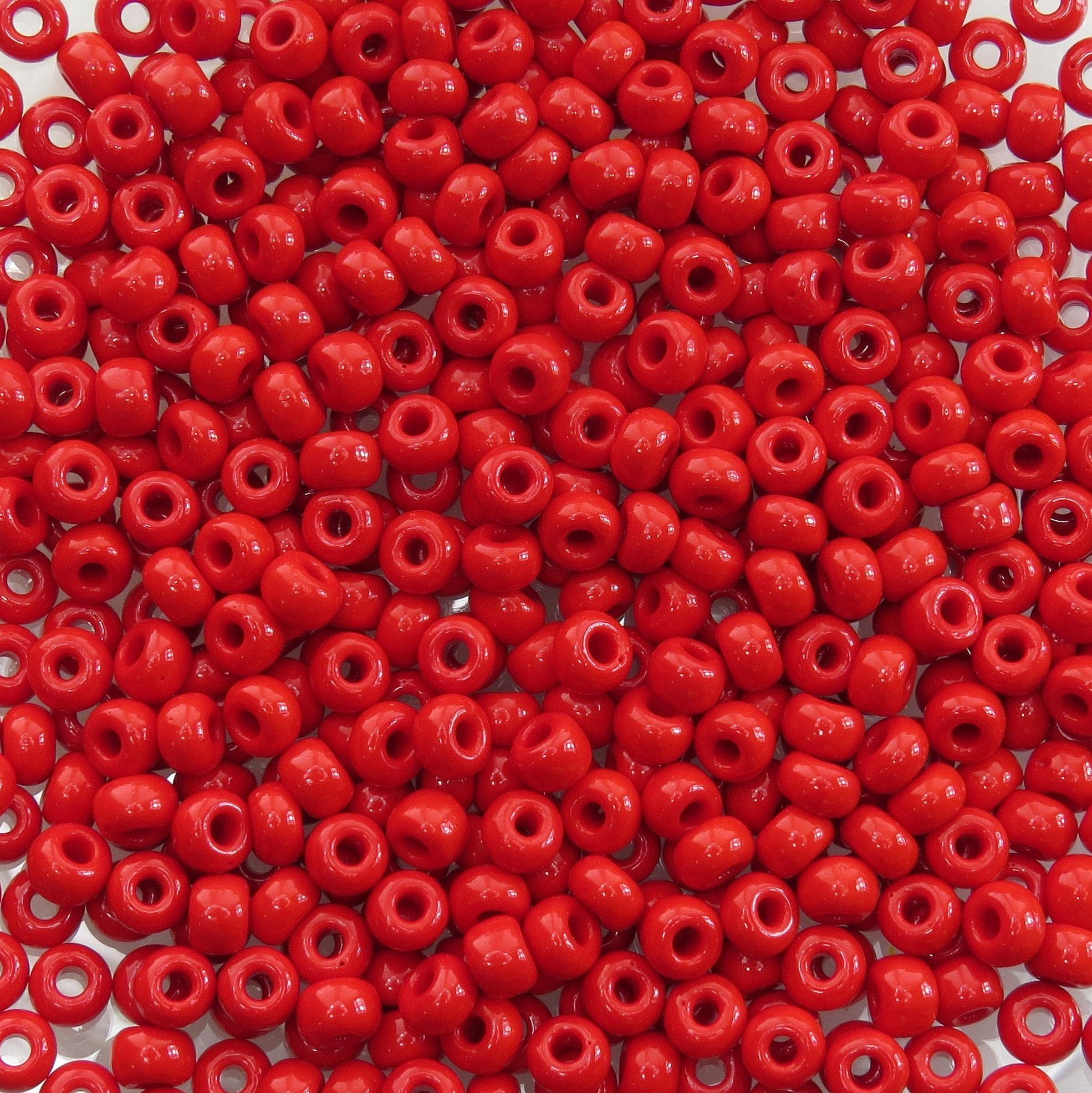 6//0 Japanese seed beads Opaque Dark  Red Luster round seed beads