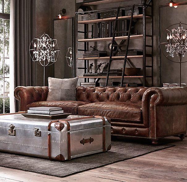 Claves para conseguir un estilo masculino en casa tisch - Chesterfield wohnzimmer ...