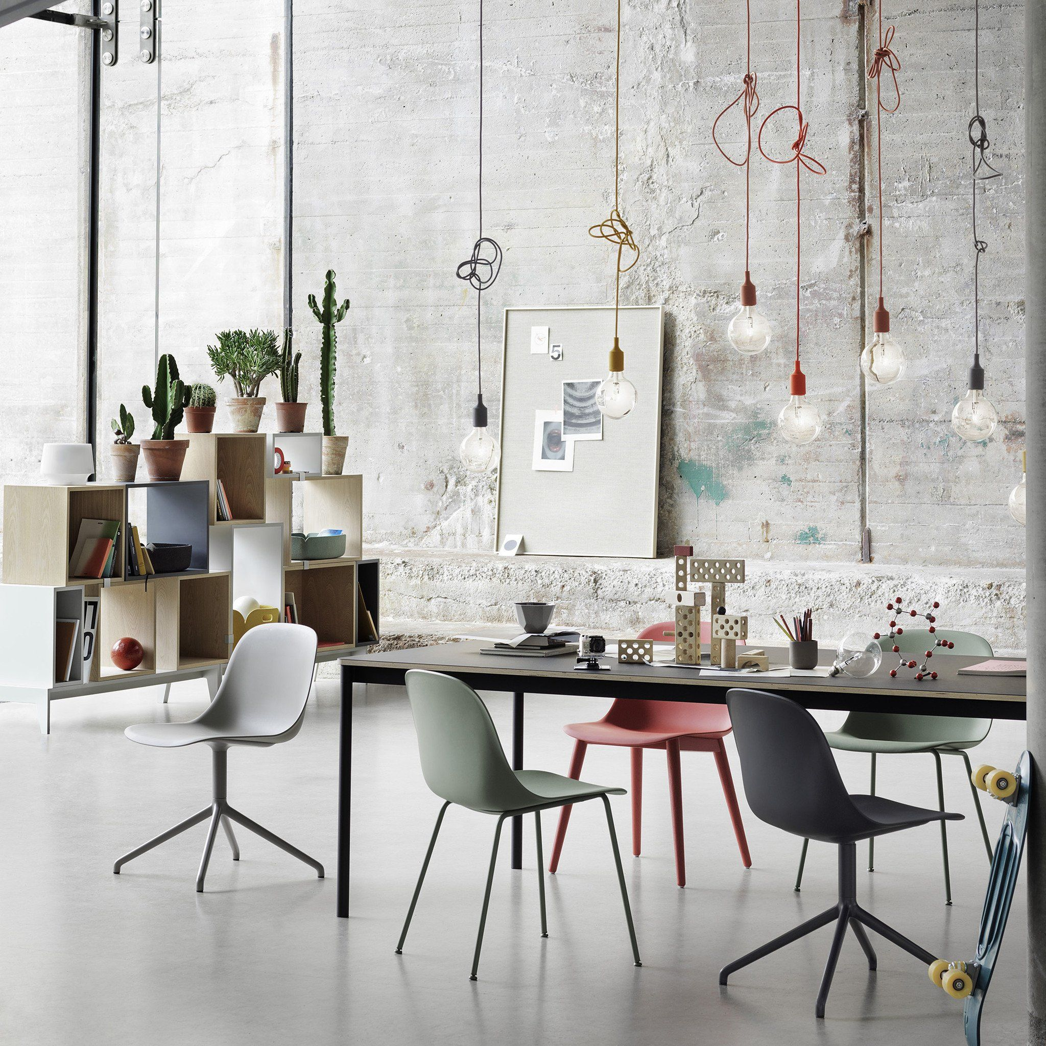 Modern Industrial Style Combines Aesthetics With: The E27 Pendant Lamp Designed By Mattias Stahlbom Is A