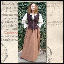 Mittelalterbluse Langarm für Mittelalter Gewandung, Larp und Reenactment